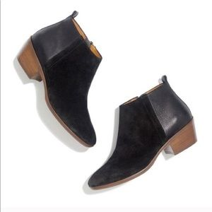 • Madewell • Charley Ankle Boots Black 7 Suede
